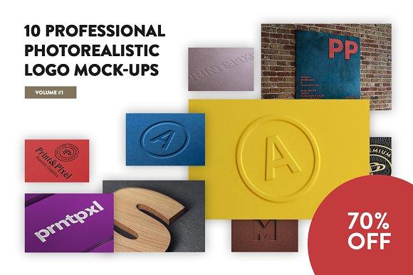 10 Premium Logo Mock-ups Vol.1