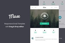 Muse - Responsive Email + Builder by  in Campaign Monitor