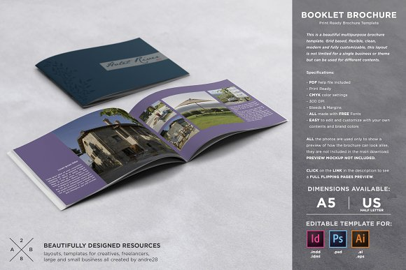 Booklet Brochure Template-Graphicriver中文最全的素材分享平台