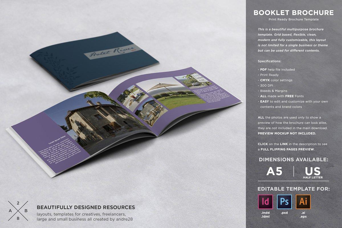 Booklet Brochure Template ~ Brochure Templates ~ Creative Market