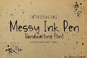 Messy Ink Pen Handwriting Font
