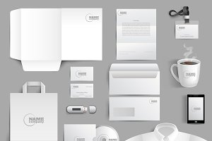White corporate stationery set