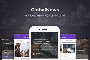 GlobalNews - News & Media PSD APP