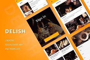Delish - Creative Restaurant PSD APP