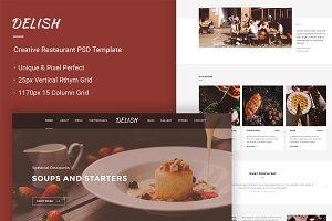 Delish - Creative Restaurant PSD