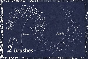 ❄ vector Snow, sparkling brush (AI)