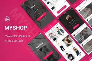 MyShop - Ecommerce App UI Kit (PSD)