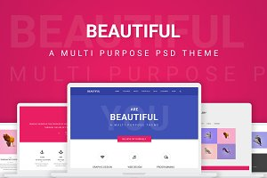 Beautiful - Creative PSD Theme
