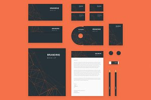 Brand Identity Set: Orange tech
