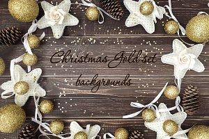 CHRISTMAS gold set backgrounds
