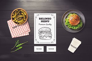 Restaurant Branding Mock-up #12