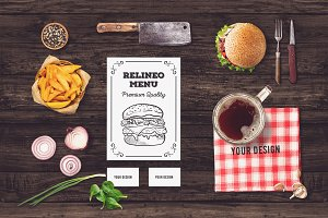 Restaurant Branding Mock-up #11