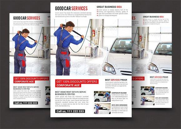 car wash flyer templates flyer templates creative market