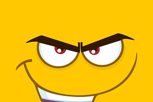 Evil Cartoon Funny Face