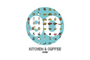 Kitchen & Coffee Shop Icon