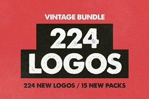 VINTAGE BUNDLE 224 Logos & Badges