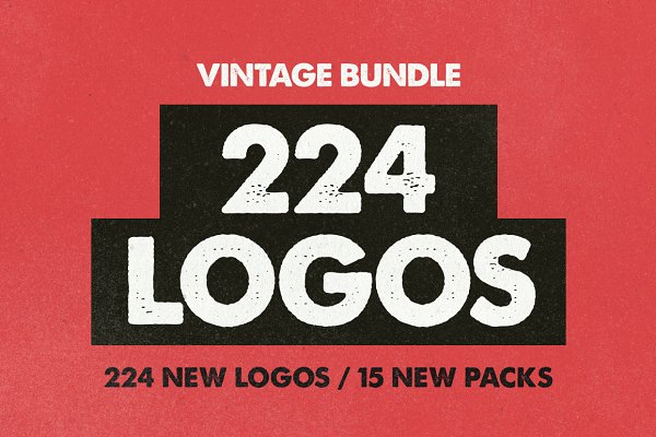 VINTAGE BUNDLE 224 Logos & Badges