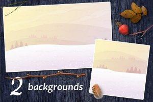 ❄ vector Winter landscapes