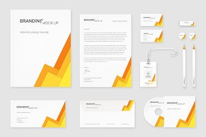 Brand Identity Set: Material Yellow
