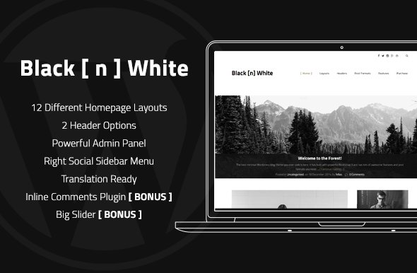Black N White - Wordpress Theme ~ WordPress Blog Themes ~ Creative ...