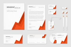 Brand Identity Set: Material Orange
