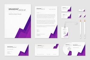 Brand Identity Set: Material Purple