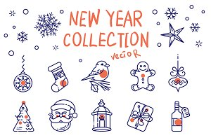 New Year line collection
