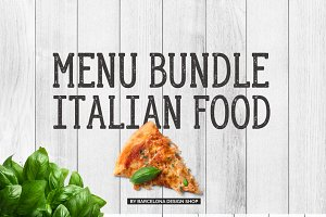 Italian Food Menu Bundle