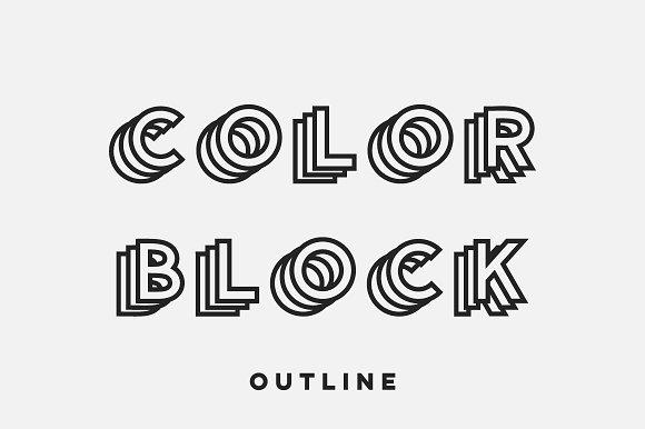 Color Block - Colored Font