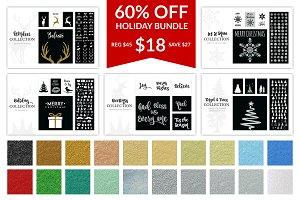 Holiday Font Bundle 60% Off