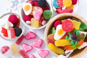 Colorful childs sweets