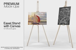 Easel Stand with Canvas
