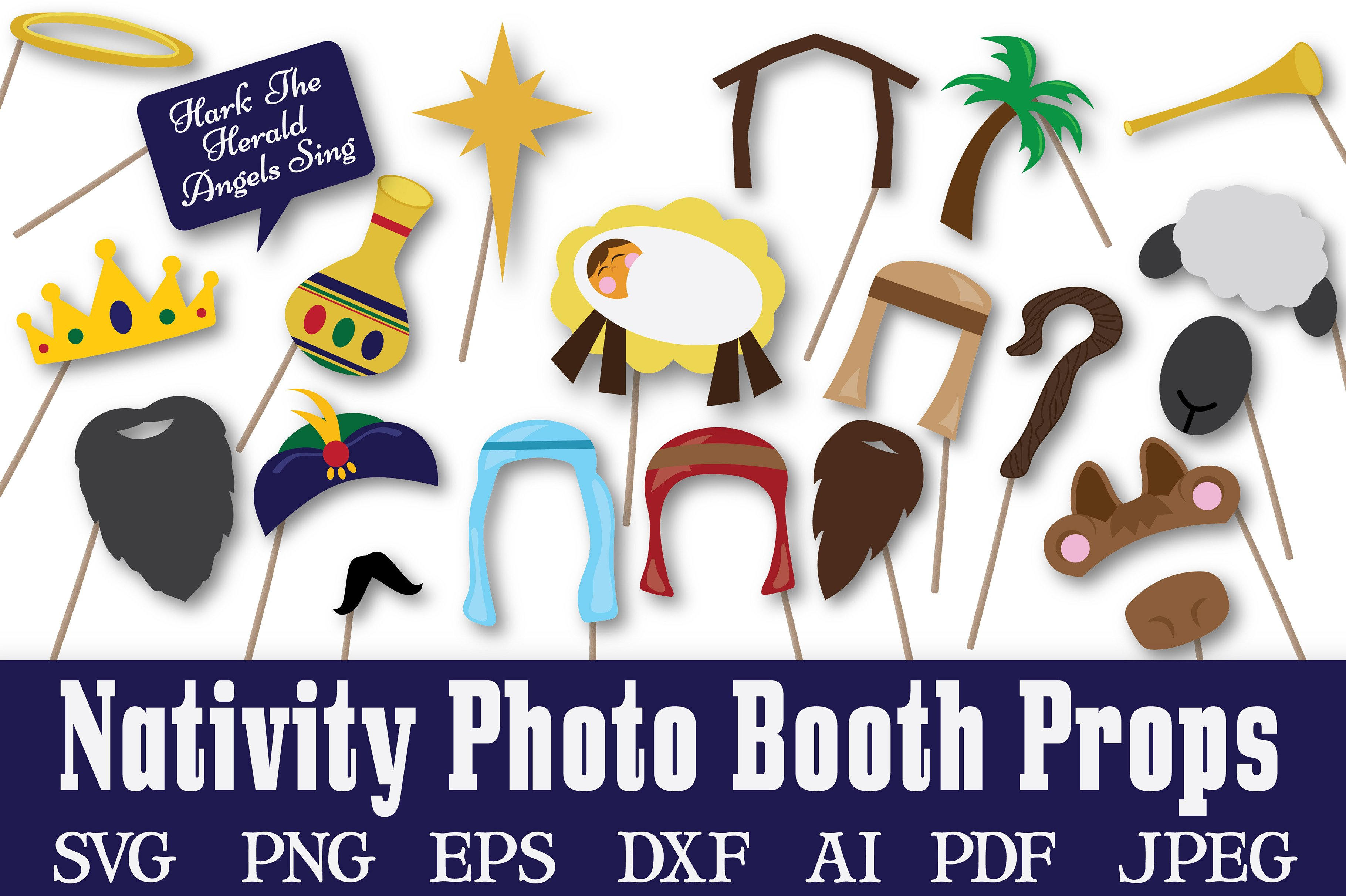 christmas nativity photo booth props