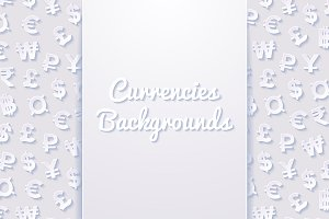 Backgrounds with currency symbols