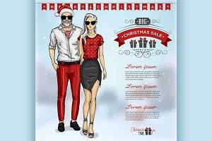 fashion man and girl