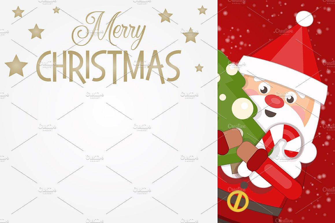Merry Christmas Greeting Card Illustrations Creative Market