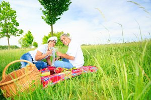 Senior Couple Having A Picnic