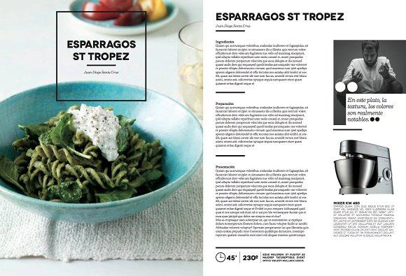 Indesign CookBook Template ~ Brochure Templates ~ Creative Market