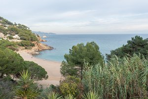 The coast in Blanes