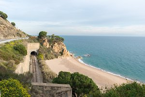 The coast in Calella
