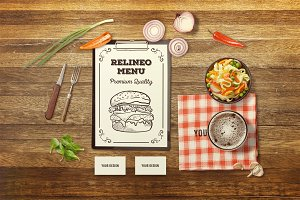 Restaurant Branding Mock-up #10