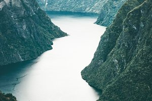 Norway Landscape Mountains fjord