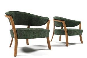 1011 Velvet armchair