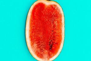 Half Fresh Watermelon. Minimal.