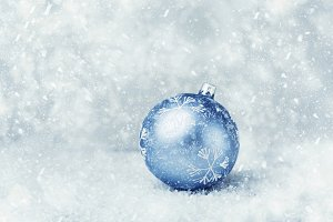 Beautiful blue Christmas ball