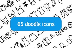 Doodle clothes icons