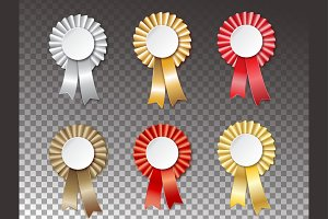 Ribbon Labels, Winner badge set