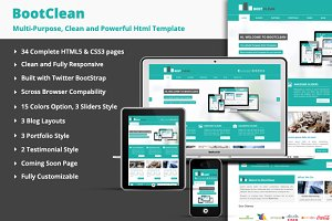 BootClean - Business Template