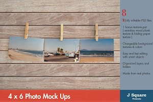 4x6 Card Mock Ups on Clothesline