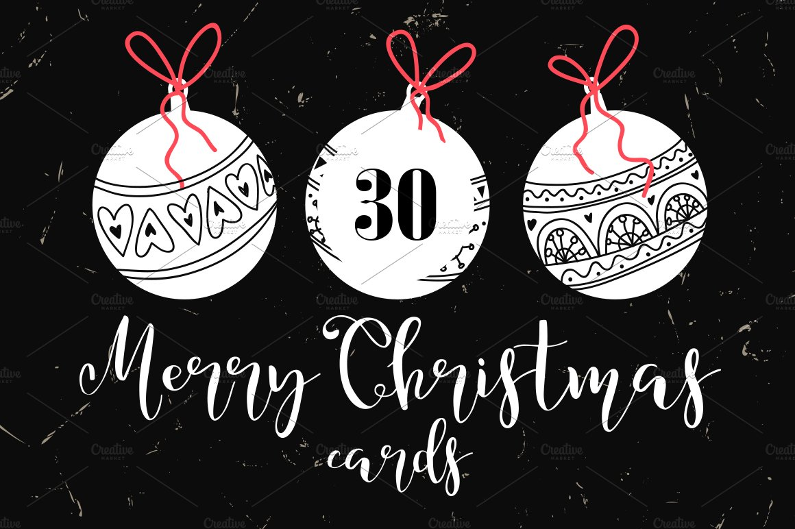 Fairy Christmas lettering posters ~ Flyer Templates ~ Creative Market